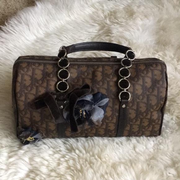 99694a475e0 Christian Dior Handbags - Christian Dior hand bag velvet handle cute